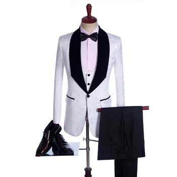624bcdbb8ad MQ01 акции костюмы мужские смокинги для женихов Новое поступление свадебные  костюмы Выпускной вечерние костюмы для церемоний