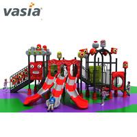 Outdoor Plastic Children Kids Play Plastic Slides And Swing Outdoor In Park For Kids Plastic