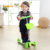 China factory wholesale cheap price bright light 3 PU wheels kids scooter