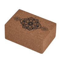 Manufacturers custom logo printed yoga blocks eco friendly natural cork yoga block
