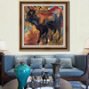 Animal Subjects picture abstract impressional flying dragon painting and Modern Style Canvas Oil Painting