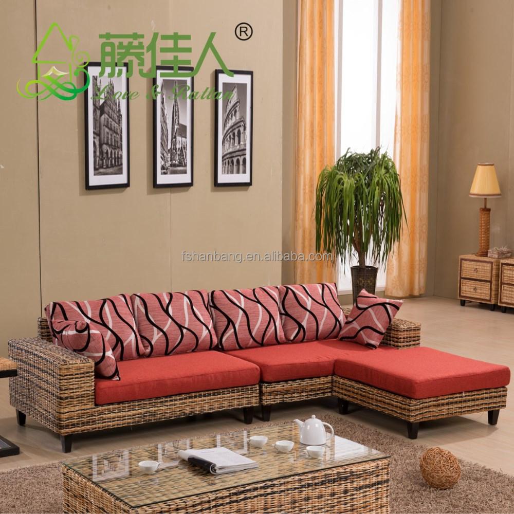 China de fábrica Indonesia real natural mimbre muebles sofá conjunto ...