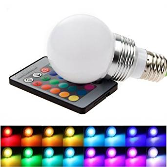 XCSOURCE® RGB LED Bulb Light Changing Lamp 16 Colors 3W E27 + 24 Key Remote Controller For Home Part Decoration LD229