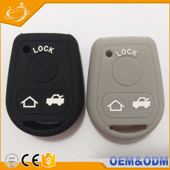 Silicone Rubber 3 Buttons Car Key Cover Cap Protect Case For Bmw E31