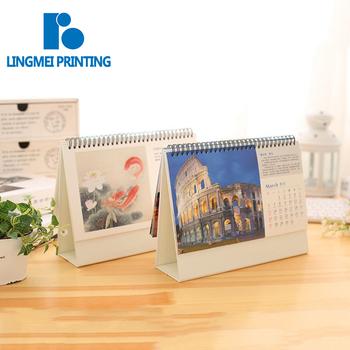 Best printing service factory cheap price custom size coloring english arabic agenda calendar