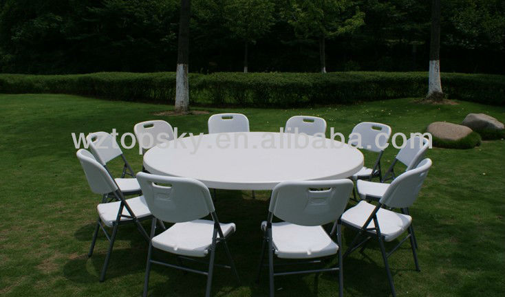 "6Feet ( 72"" ) Folding Banquet Round Table"
