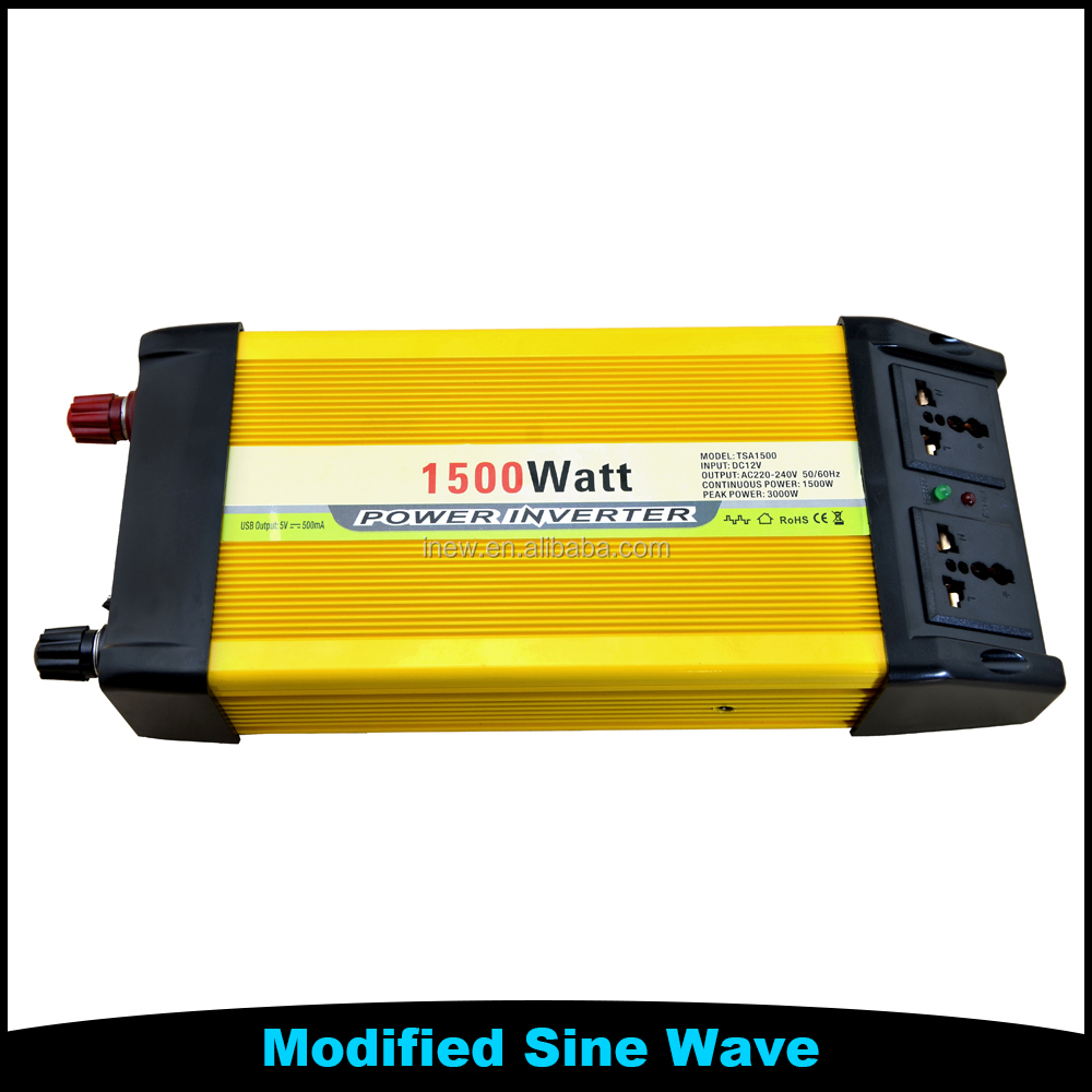 off-grid system 1500w power inverter Short Circuit Protection 12V to 220V Inverter Air Conditioner