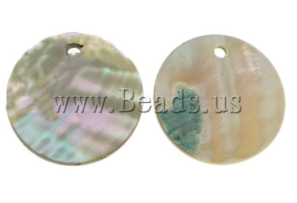 Free shipping!!!Natural Abalone Shell Pendants,Designs, Coin, 13x13x2mm, Hole:Approx 1mm, 50PCs/Lot, Sold By Lot