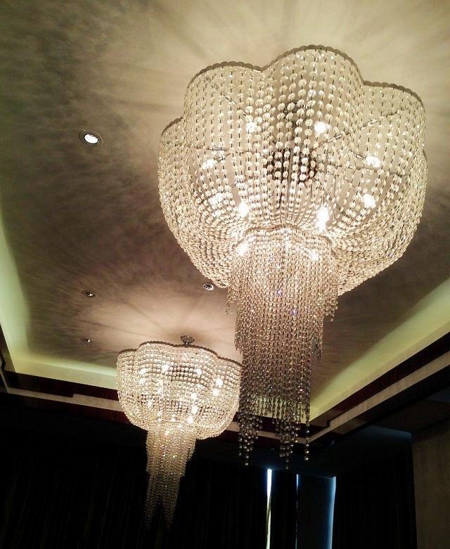 Zhongshan Factory Custom Banquet Hall Wedding Ballroom Large Crystal Chandeliers Lighting