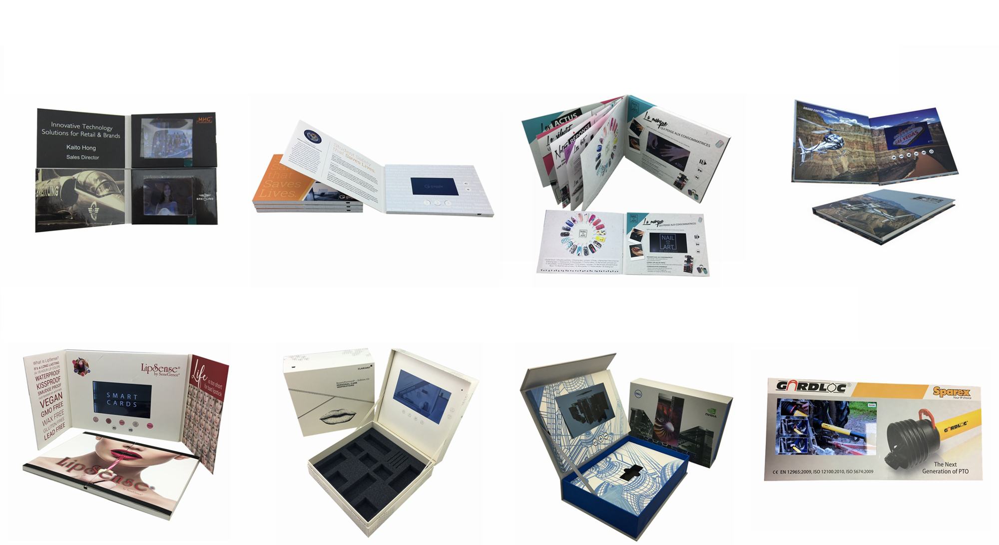 Indonesia Hotel Promotion Paper Material  7Inch LCD video book/ Video Screen Book /Greeting LCD Business Card
