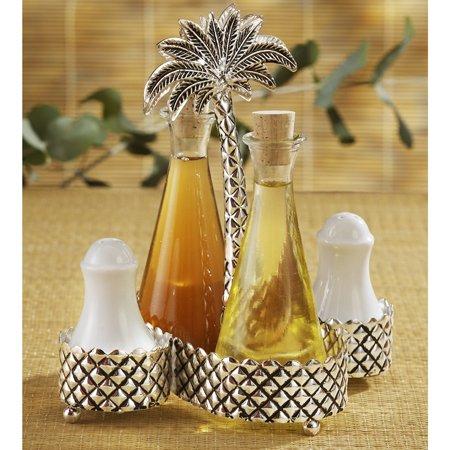 Studio Silversmiths Palm Tree Design Condiment Set
