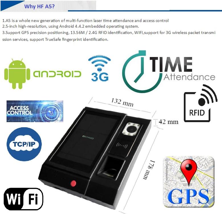 Hf-a5 Biometric Attendance 3g Biomeric Time Attendance Type Biometric  Fingerprint Time Clock - Buy Fingerprint Time Attendance Device With 3g  Android