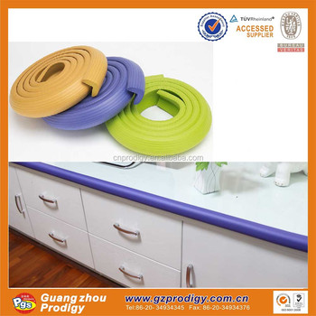 table edge guard. soft rubber shelf edge guard/rubber table guard z