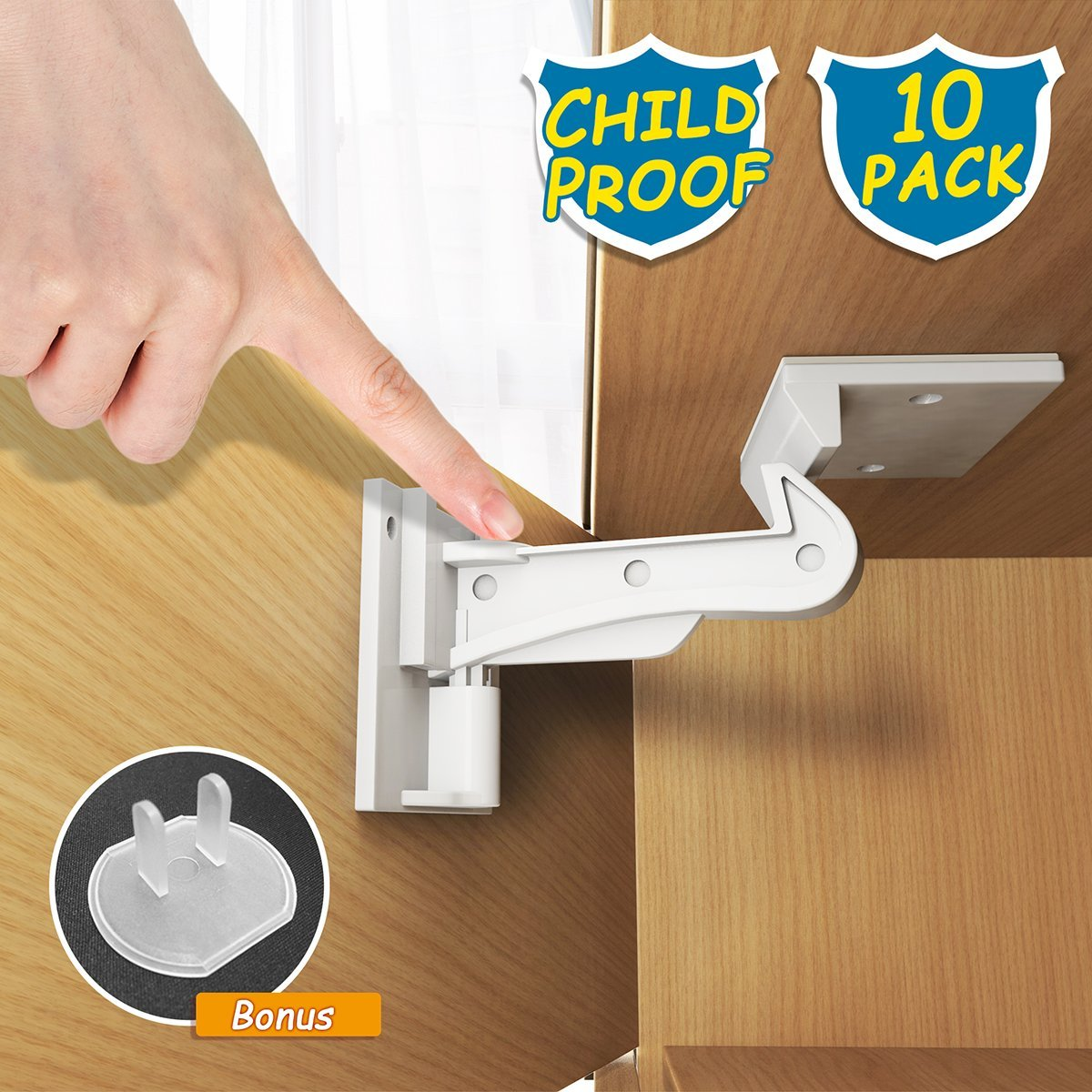 72321 Safety 1st 14 Pack Wide Grip Cabinet Locks /& Drawer Latches Child Proof