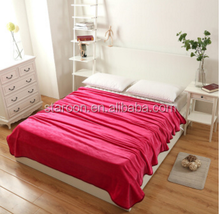 China famous brand solid color comfortable fleece plush coral blanket