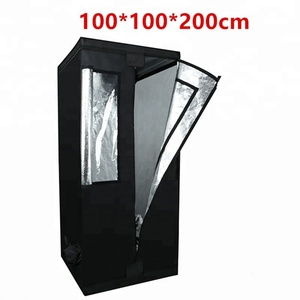 Customized 240x120x200 1680d mylar greenhouse grow tent with 2 room for all  kinds plants