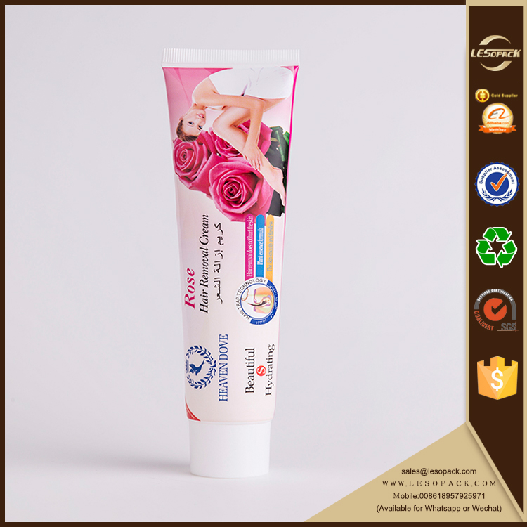 Beautiful Soft Fragrant Flexible Packaging Hair Remover Cream Tube
