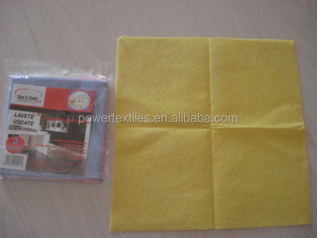 Needle punched viscose universal dry cloth