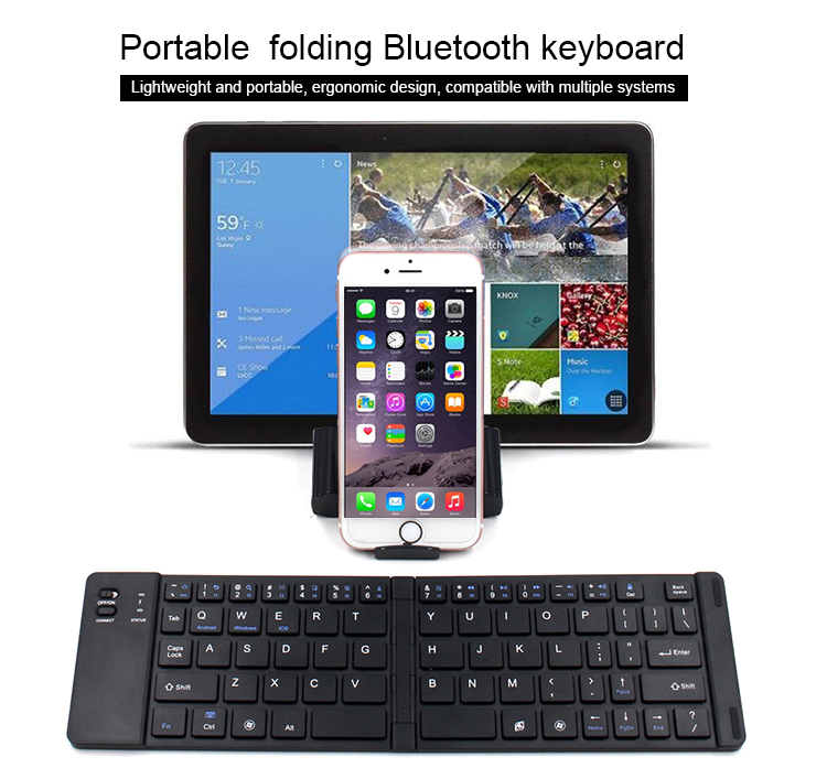 Oem foldable spanish wireless keyboard with stand