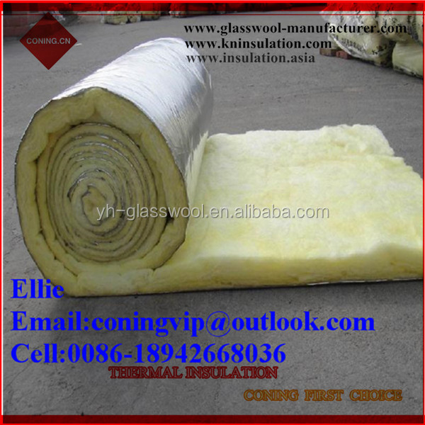 20kg/m3 Glass wool roll heat insulation for warehouse roof and wall