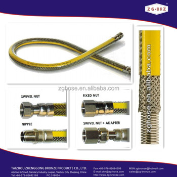 Tubo gas en14800 1/2 filetto f-f 150cm