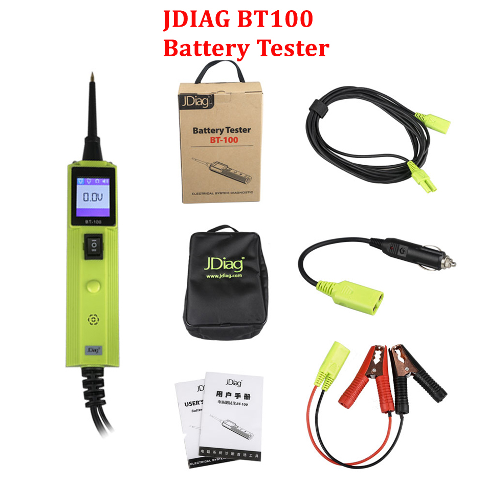 2017 JDiag BT-100 Battery Electrical System Circuit Tester BT100 Auto Diagnostics Tool Update Of PS100 YD208 PT150