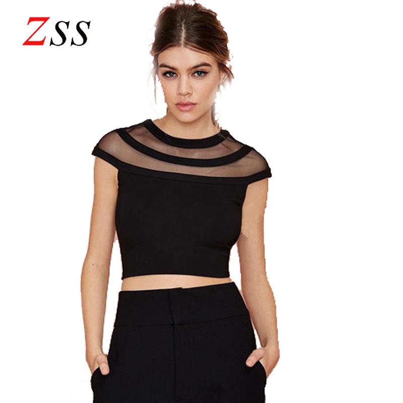 eb116fab90e Tshirt Sexy Mesh Crop Tops Summer 2015 Mesh T shirt Women Transparent Slim Short  Tops For Women Short Sleeve Plus Size sexy