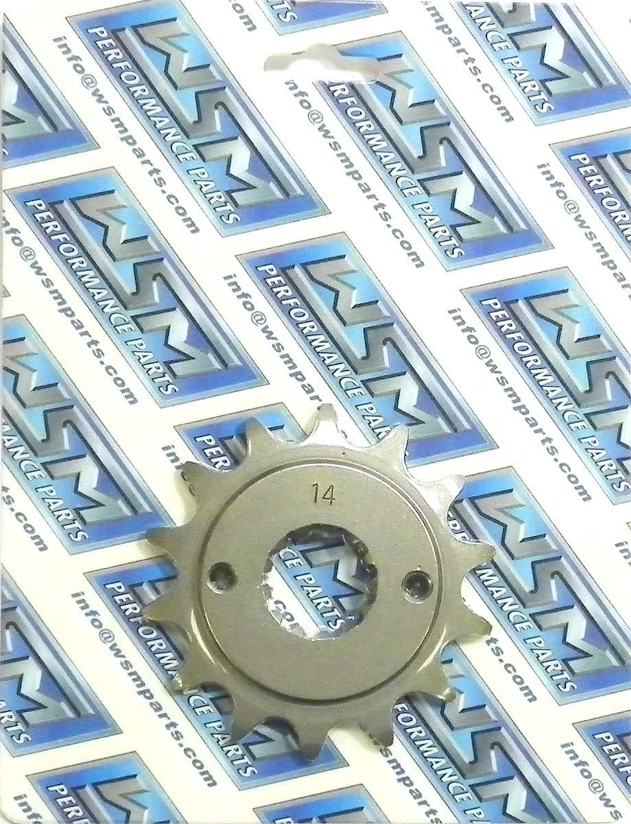 Kawasaki Steel Front Sprocket Moto-X 250 KL 250 1985-1986, 2000-2003, 2009-2010/ KLR 250 1987-1999-2005/ KLX 250 2003/ KL 600 1985-1986/ KLR 650 1987-2014 14 Teeth FSK-013-14