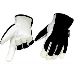 Genuine leather, warm 3M Thinsulate working gloves for best hand protection
