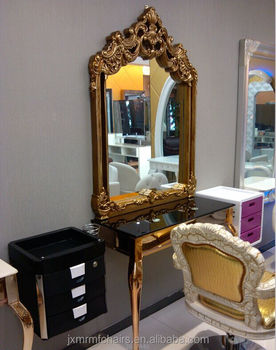 Beauty salon mirror station hairdressing styling mirror ...
