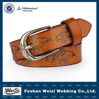 2013 New Design Classic Alloy Pin Buckle Fashionable Brown Belts For Girls