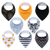 Amazon Hot Sale Knit Cotton Colorful Gift Set for Drooling and Teething Baby Bandana Bibs Baby Bibs