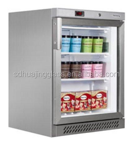 Commercial Glass Door Display Freezer Mini Fridge