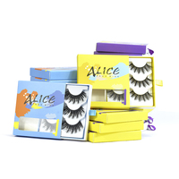 Private label custom one dollar 25mm 3d mink eyelashes package box false faux mink synthetic silk eye lashes vendor