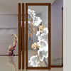 Modern hotel decorative glass flower wall art