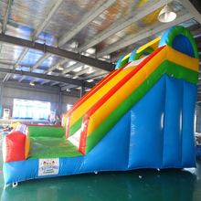 Kids playground outdoor amusement park inflatable bouncer slide with factory cheap price