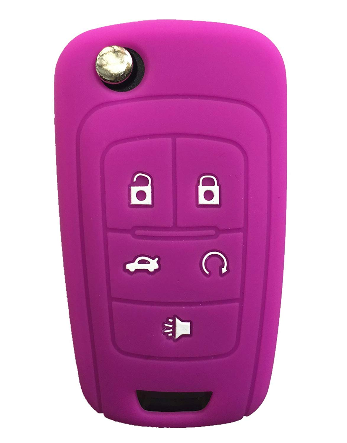 KAWIHEN Silicone Keyless Entry Case Cover Smart Remote Key Fob Cover Protector For Buick Allure Encore LaCrosse Regal Verano OHT01060512 KR55WK50073(Purple)
