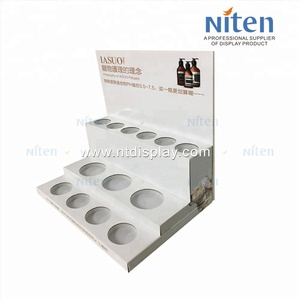 For cosmetic shop sale makeup cardboard counter top display cosmetic point of sale display