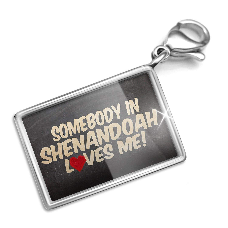 Clip on Charm & Bracelet Set Somebody in Shenandoah Loves me, Virginia, National park Lobster Clasp