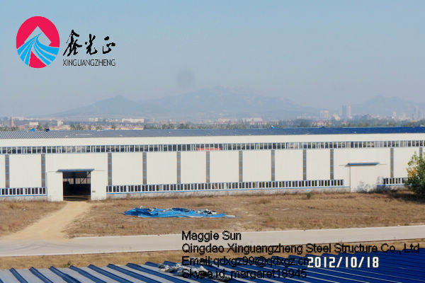 Steel Hanger Portable Air Conditioner Workshop Steel Structure Warehouse
