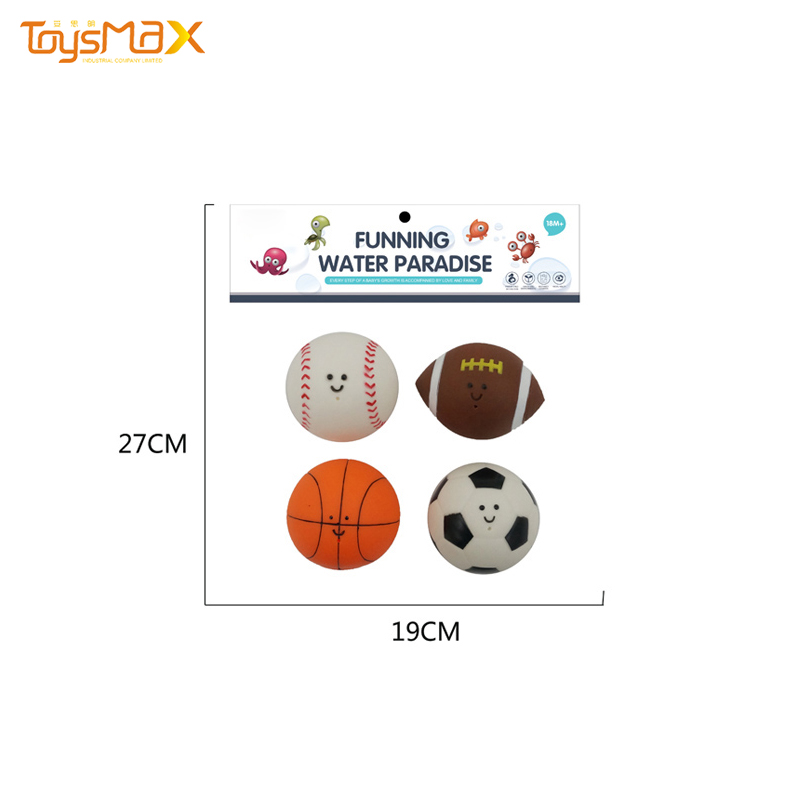 New Design Custom Rubber Ball Game Toy Foam Bath Toy Inflatable Water Park