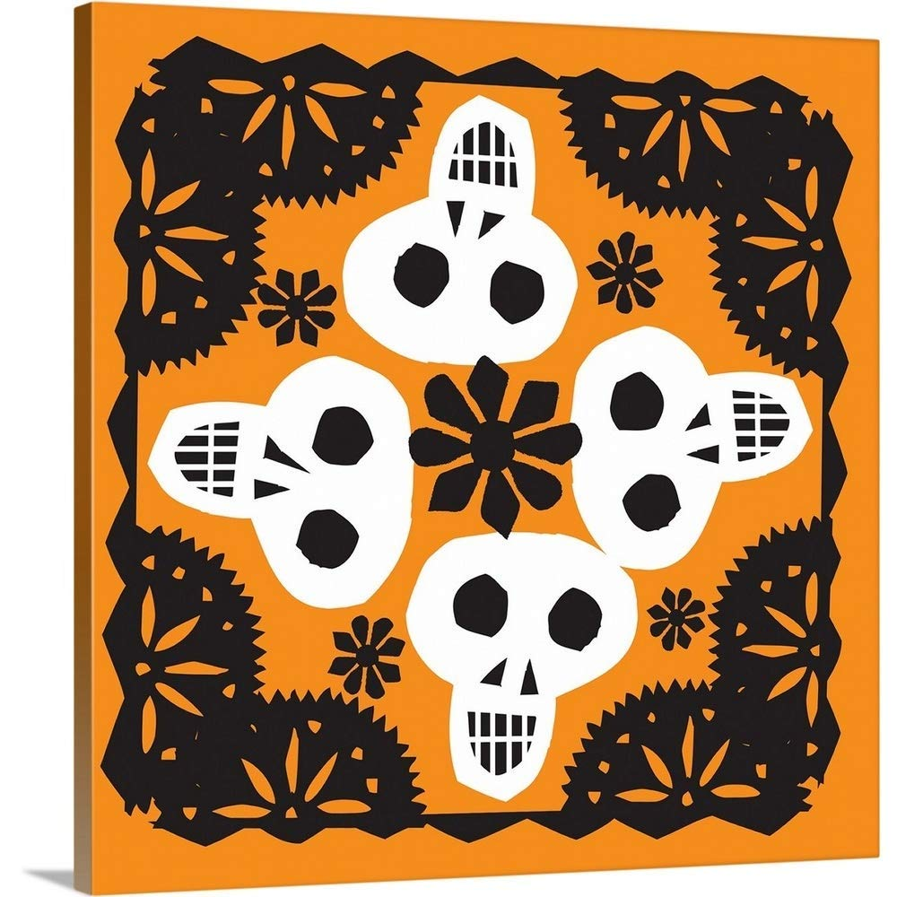"GREATBIGCANVAS Gallery-Wrapped Canvas Entitled Skulls 27 by Luis Fitch 30""x30"""
