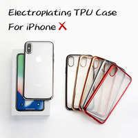 soft TPU electroplating luxury black 8 X cover phone case for iphone X 10