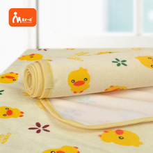 Wholesale soft cotton fabric diaper travel portable baby changing pad