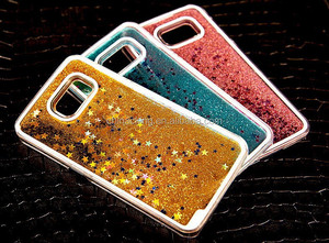 For Samsung Galaxy S3 S4 S5 S6 S7 s7 edge A3 A5 A7 J5 J7 Star Quicksand Sand Clear Back Cover Dynamic Liquid Glitter Case