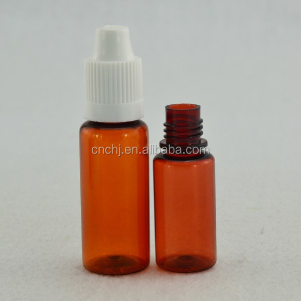 15ml amber widemouthed plastic bottle /15ml amber pet bottle widemouthed /15ml amber packing bottle widemouthed