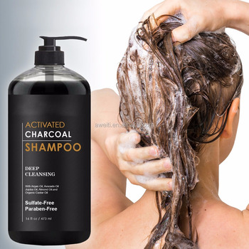 Sulfate Free Activated Charcoal Hair Shampoo For Deeply Cleansing Hair