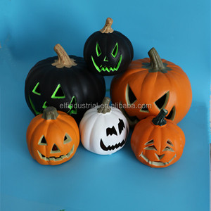 Pumpkin Decorations Led Light Artificial White Large Plastic Mold Up