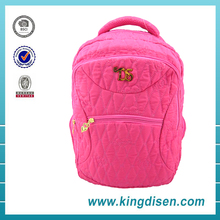Hot selling korean style fashion quilted backpack for college girls