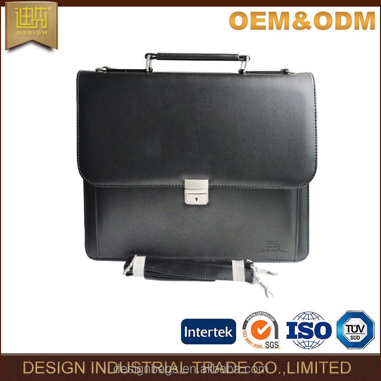 Fashion Leather laptop bags briefcase 2017 China high quality men's office laptop briefcase
